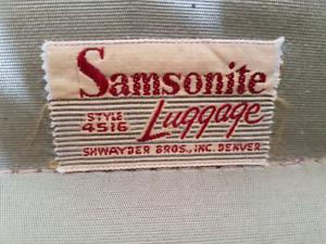 Luggage vintage Samsonite