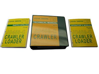 John Deere Jd450-c Crawler Dozer Bulldozer Technical Service Repair Manual Set