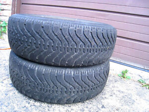 2 Goodyear Nordic 215/70/15 M+S Tires in good condition