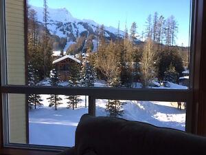 Stunning ski resort view, fully renovated Fernie condo.