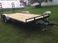 Flatbed equipment and car trailer