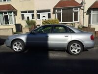 Audi A4 1.8 20V turbo petrol, 5 speed manual.