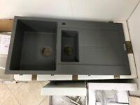 Caple 1.5 Bowl Granite sink with waste kit