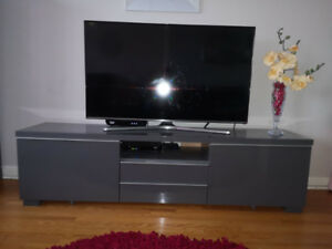 IKEA BESTA TV UNIT - Grey with shiny smooth finish