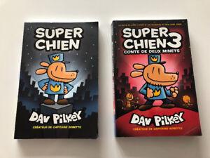 2 LIVRES ( SUPER CHIEN) FRANÇAIS 10$