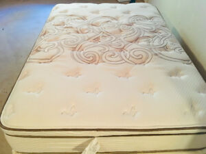 Double Mattress and Box spring.