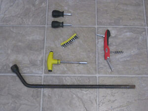 Some Useful Tools Including 19 mm Lug Wrench