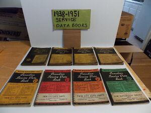 1938 - 1951 Service Data Books