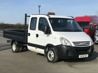 4ef3cb4ae94c59 IVECO DAILY 2.3HPI 35C12 156BHP DOUBLE CAB TIPPER IN WHITE. ONE OWNER. NEW