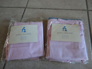 Brand new pottery barn pink fabric sophie basket liner Set of 2 London Ontario image 1