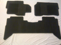 Nissan Pathfinder floor mats - front and rear – rubber