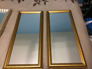 TWO GOLD MIRRORS
