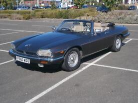 1989 F JAGUAR XJ-S 5.3 V12 AUTO CONVERTIBLE IN METALLIC GREY AIR CON CLASSIC CAR