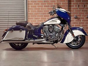 2015 Indian Chieftain Springfield Blue/Ivory Cream