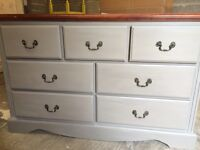 Up Cycled Solid Wood Chest of Drawers/Dresser (can deliver)