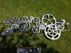 Hand Crafted Gears Prop from prestiges Theatre