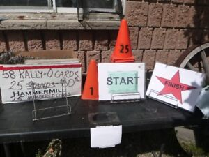 Rally-O Signs Stands Numbered Cones