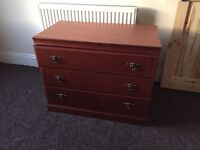 Lovely Solid Vintage Chest Of Drawers