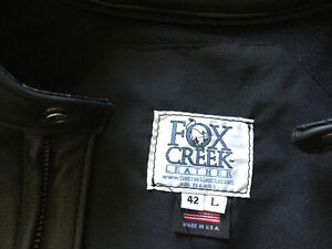 Fox Creek Leather Summer Riding Jacket 42Tall and Gloves-Med