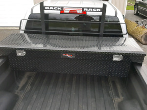 Back rack and tool box for sale