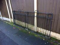 8ft wide / long galvanised steel sliding gate / security gate / on runners / wheels / field gate £80