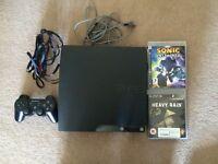 PlayStation 3 Slim 120GB + controller + 2 Games
