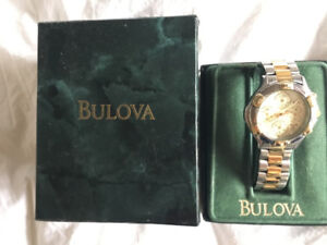 MONTRE HOMME BULOVA WATCH OR/ARGENT