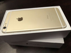 Gold iPhone 6 Plus 16GB Unlocked mint with 5 cases and extras