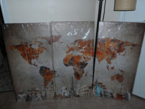 New never used......3 pic Large canvas painting.