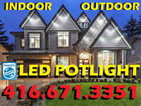 """POTLIGHTS PROFESSIONAL INSTALLATION WITH """"PHILIPS® LED"""" FROM $55"""