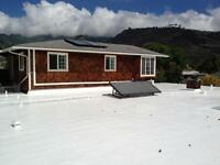 Flat roof problems? Repair and recoveries.