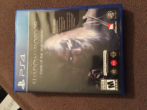 PS4 Shadows of Mordor GOTY edition