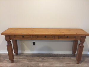 Custom Built Solid Pine Rustic Table