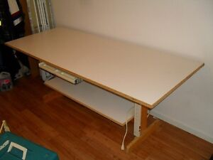 Large sized-homemade, sturdy table. 80 in by 33 in