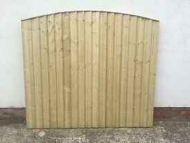 🔨🌟Top Quality Close Board Feather Edged Pressure Treated Fence Panels