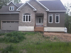 Brand new country home with a lovely room and shared spaces