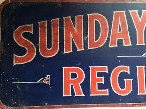 Vintage Metal Sunday School Sign Kingston Kingston Area image 2