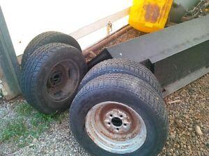 "14"" trailer tires on rims"
