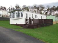 Abi Elan 38ft by 12ft sited Causey Hill Holiday Park Hexham Northumberland