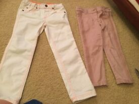 Girls trousers- excellent condition. NEVER WORN OUT