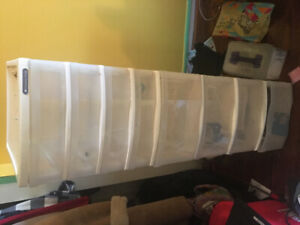 Gently used Gracious Living plastic storage containers