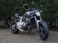 Yamaha MT07 - Great Condition - Naked Street Motorbike - Multiple Extras