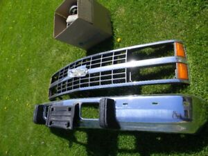 1989 chevy 1500 truck front grille, bumper and lights