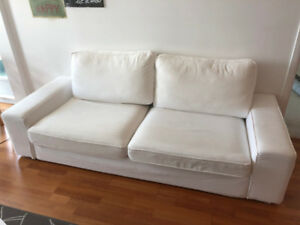 White Fabric Couch - Excellent condition