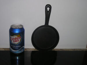 New Unused Small Black Cast Iron Fry Pan Skillet