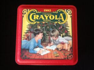 Christmas 15 year old Crayola tin