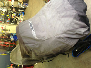 2up snowmobile cover. Trailer style