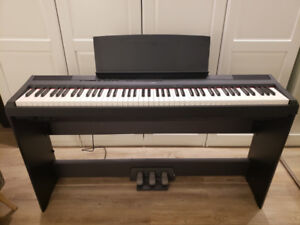 Yamaha P-115 digital piano with pedals and stand (lightly used)