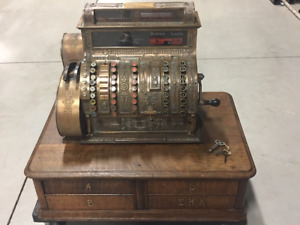 Antique Solid BRASS Four-Drawer National Cash Register (1904)