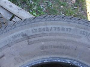 LT245/75R17  Used truck tires